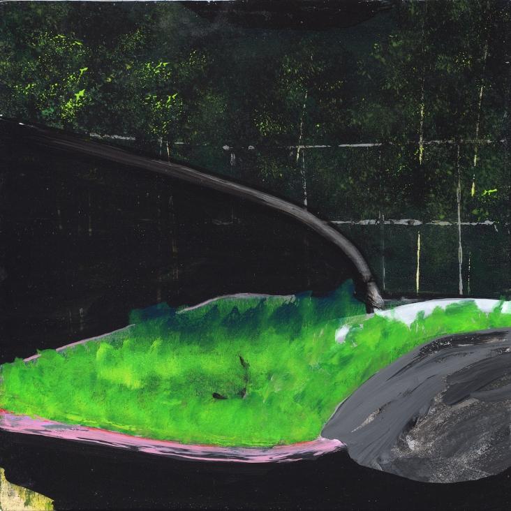 Tentative - acrylique sur bois - 25 x 25 cm - 2011
