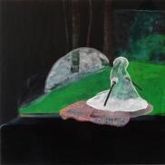 Tentative - acrylique sur bois - 40 x 40 cm - 2012