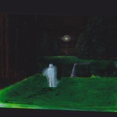 Tentative - acrylique sur bois - 10 x 10 cm - 2012