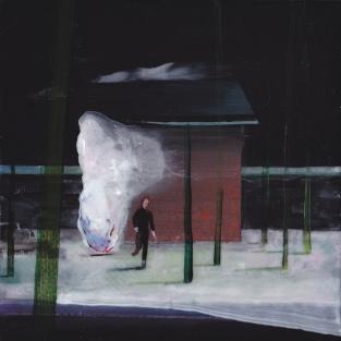 Tentative - acrylique sur bois - 15 x 15 cm - 2014