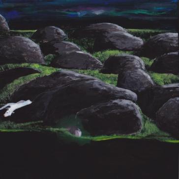 Tentative - Acrylique sur bois - 10 x 10 cm - 2014