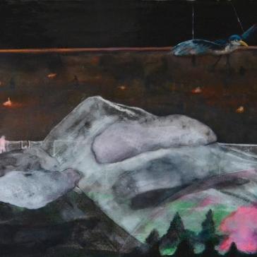 Tentative - Acrylique sur bois - 15 x 20 cm - 2014