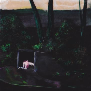 Tentative - Acrylique sur bois - 10 x 10 cm - 2016