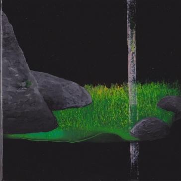 Tentative - acrylique sur bois - 15 x 15 cm - 2016