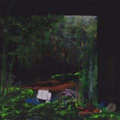Tentative - acrylique sur bois - 40 x 40 cm - 2016
