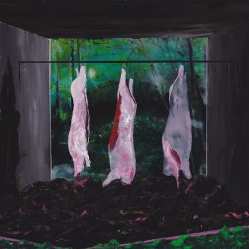 Tentative - Acrylique sur bois - 40 x 40 cm - 2014