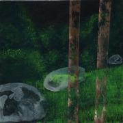 Tentative - acrylique sur bois - 20 x 20 cm - 2011