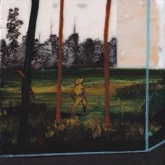 Tentative - acrylique sur bois - 10 x 10 cm - 2013