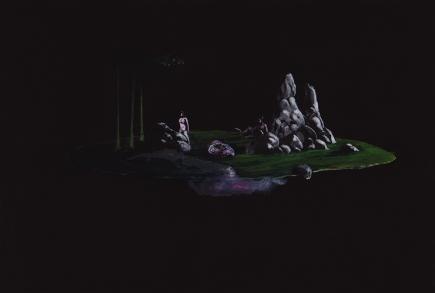 Tentative - acrylique sur bois - 29,7 x 19,7 cm - 2018